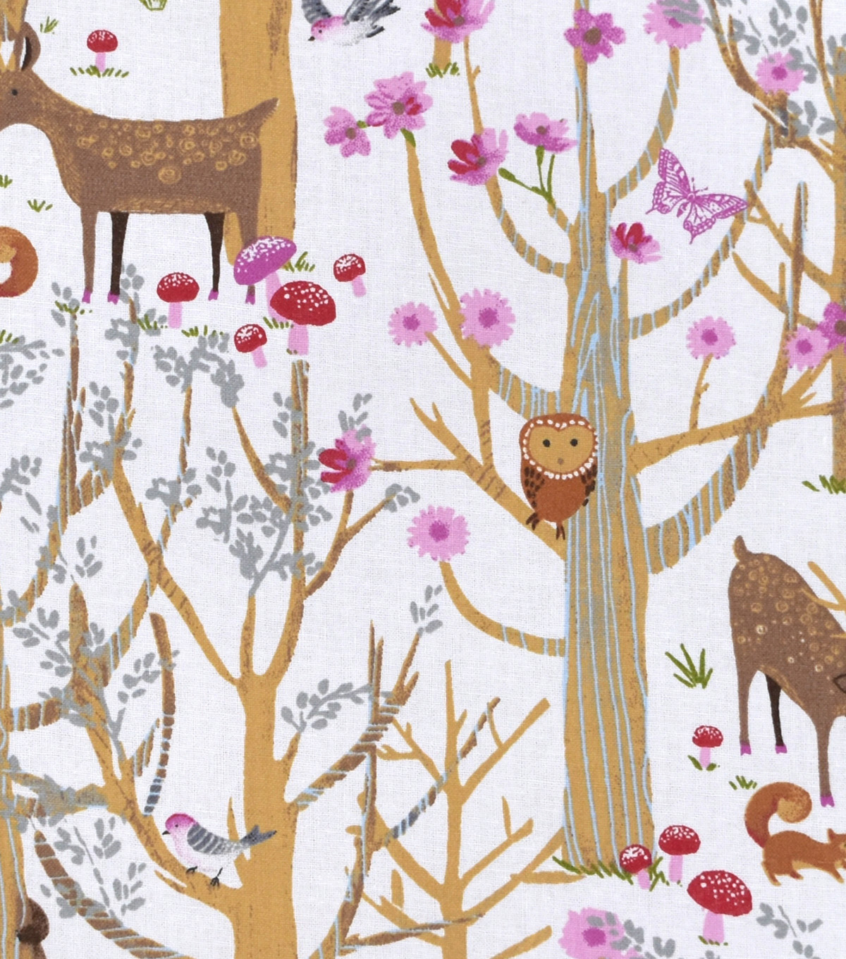 Nursery Cotton Fabric -Woodland Scene