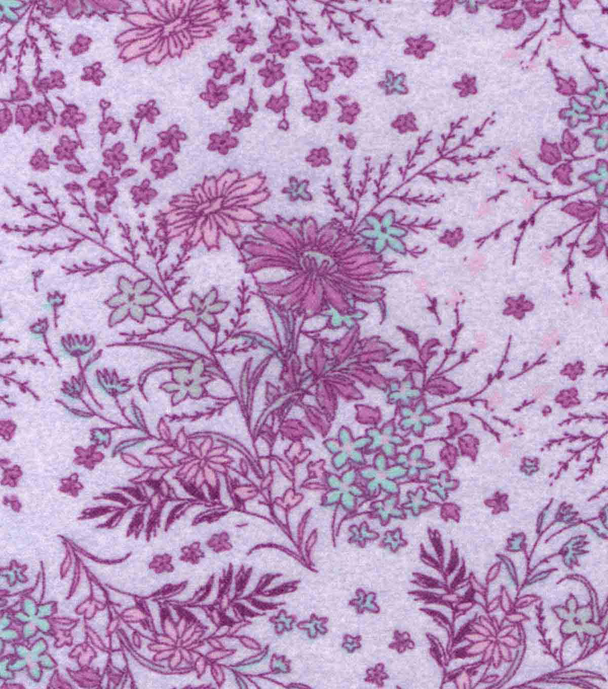 Luxe Flannel Fabric 42\u0022-Lavender  Floral