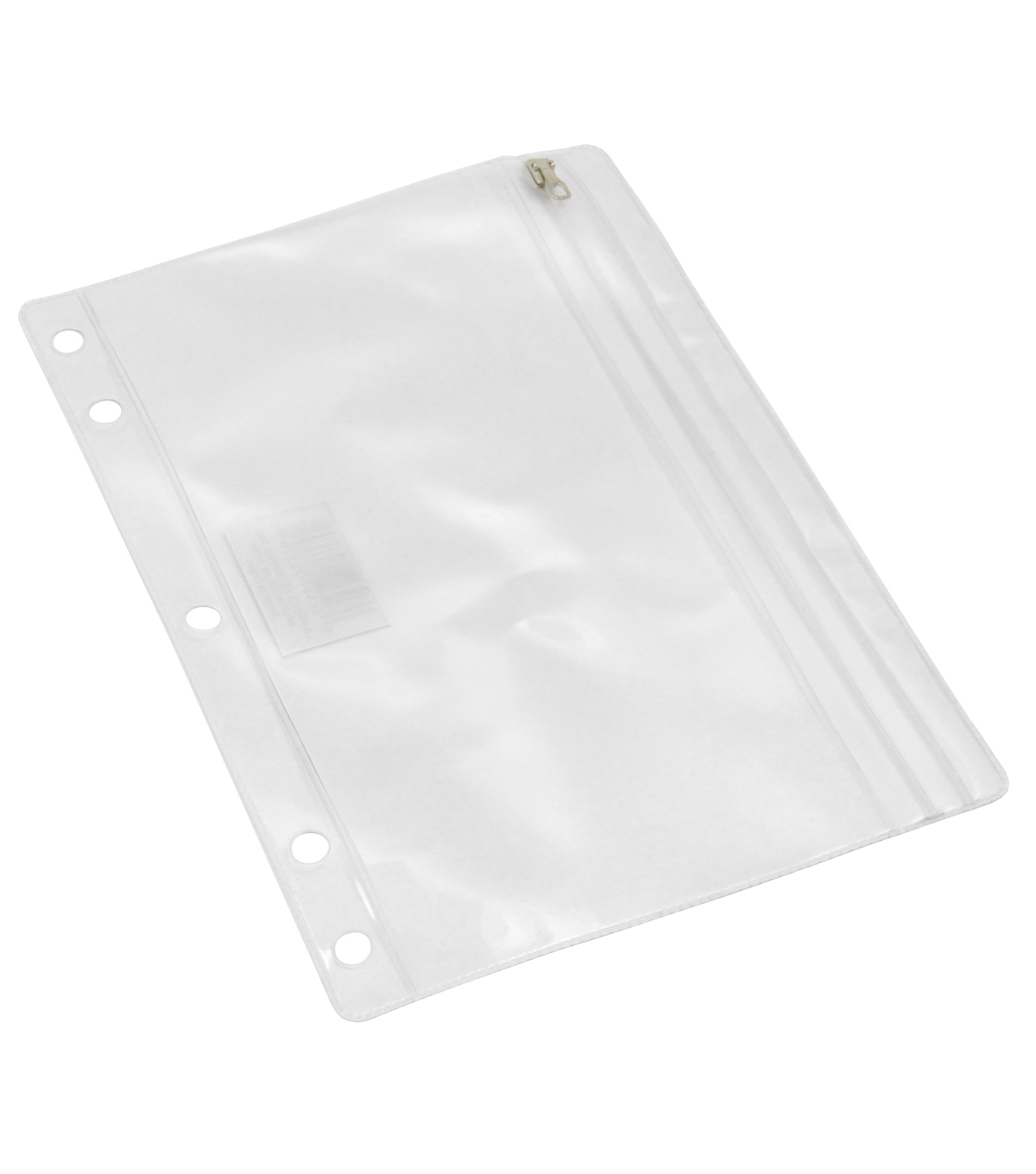 Charles Leonard Clear Vinyl Pencil Pouch with Zip Closure, Pack of 24