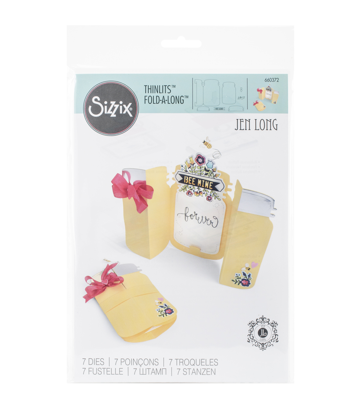Sizzix Thinlits Fold-A-Long Jar Dies