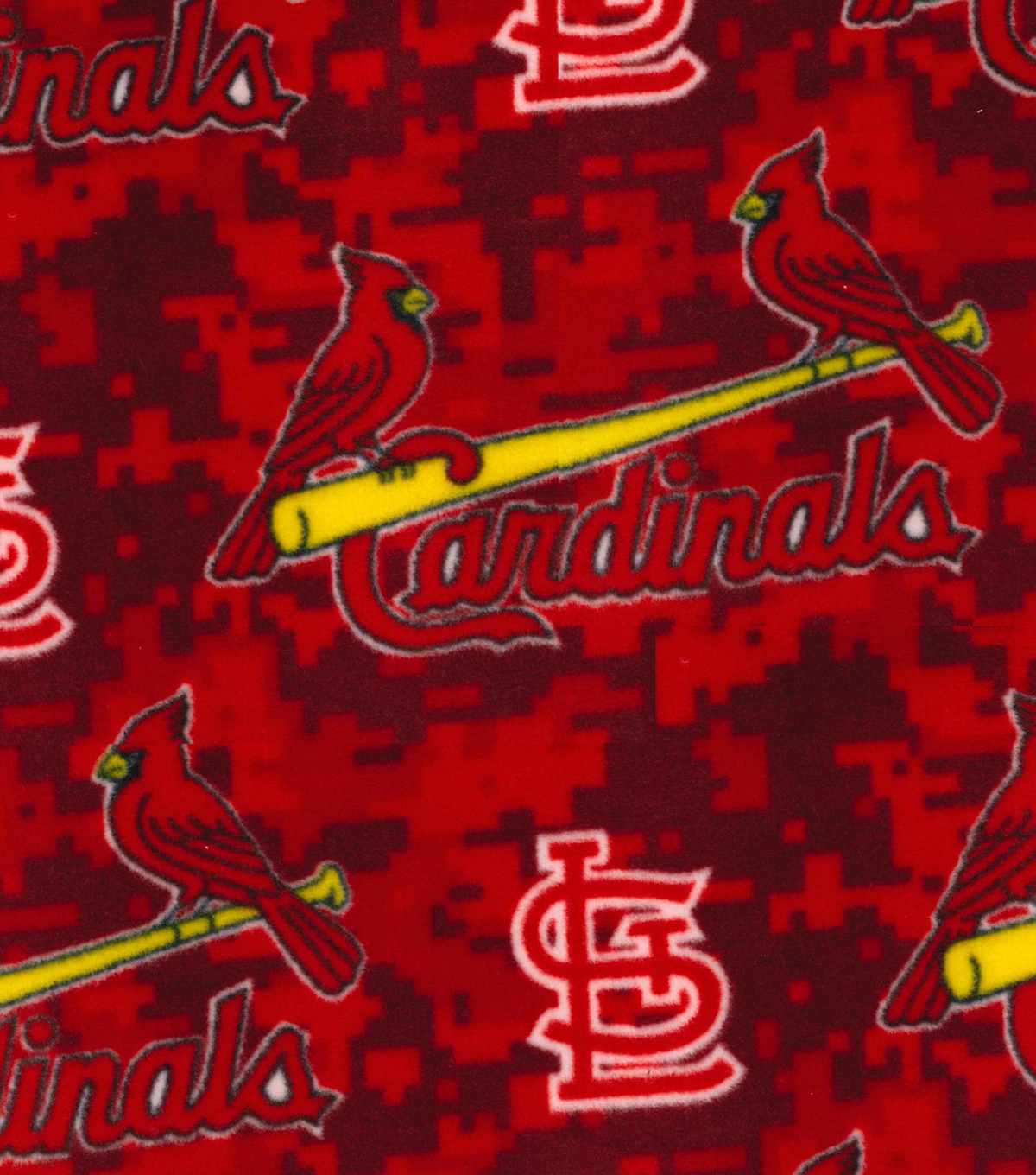 St. Louis Cardinals Fleece Fabric -Digital