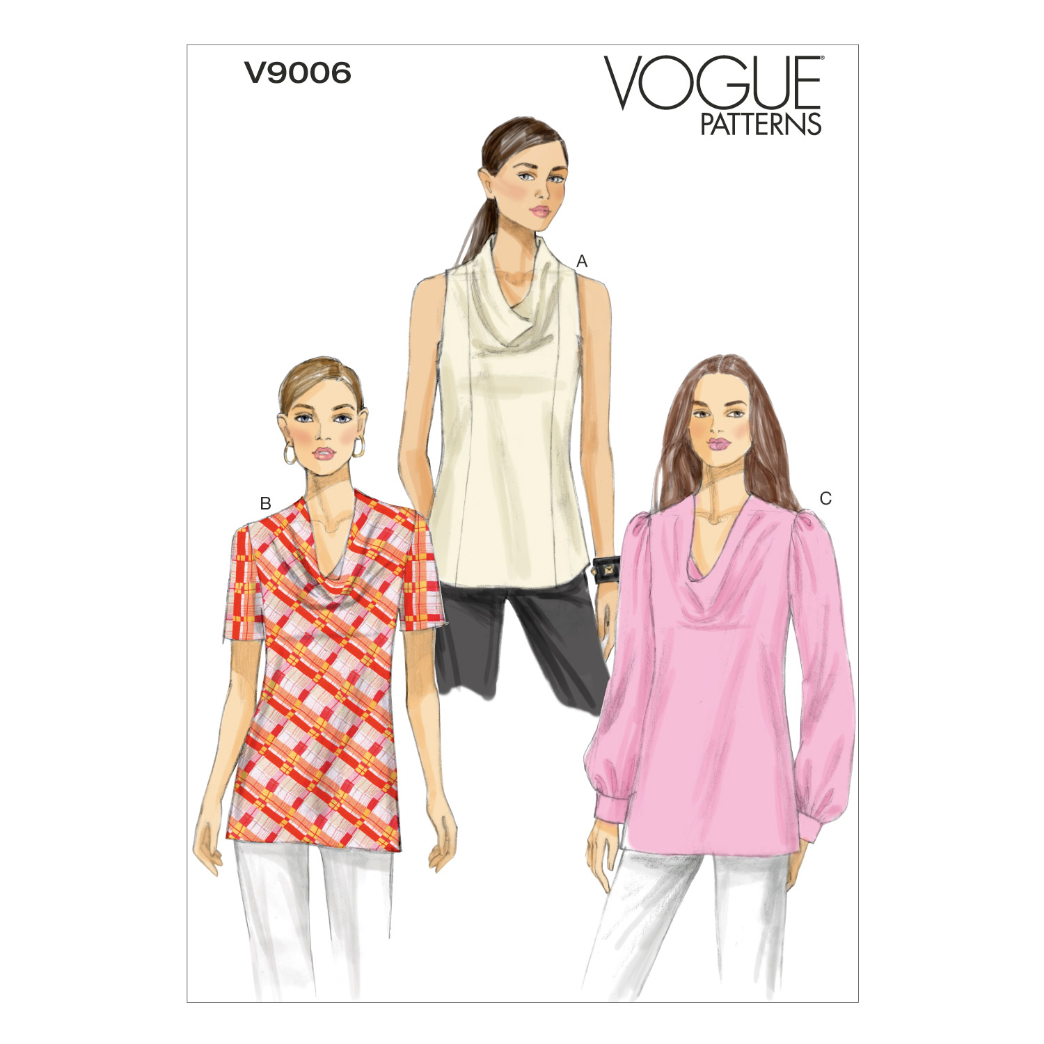 Vogue Patterns Misses Top-V9006