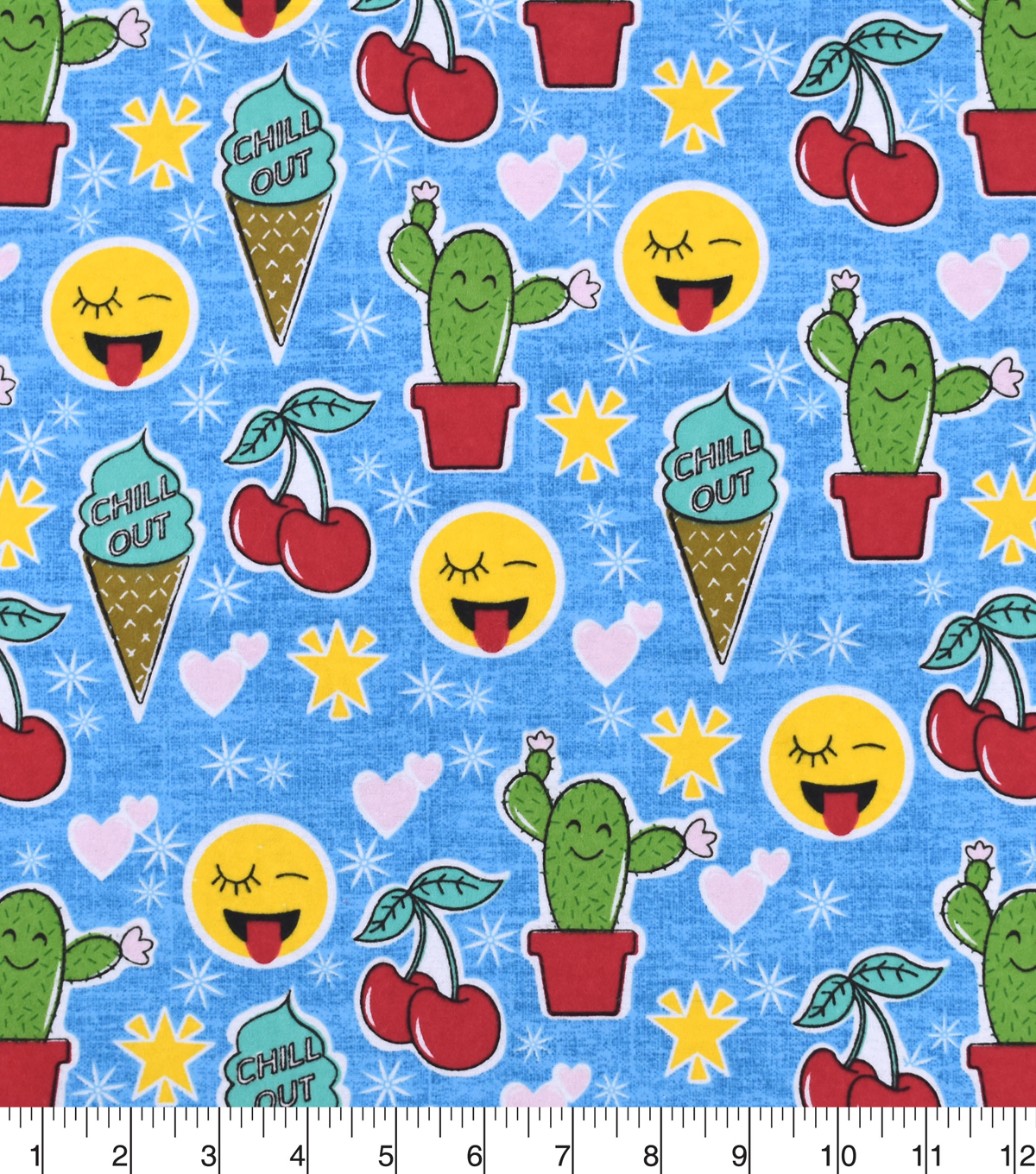 Snuggle Flannel Fabric -Chill Out Cones