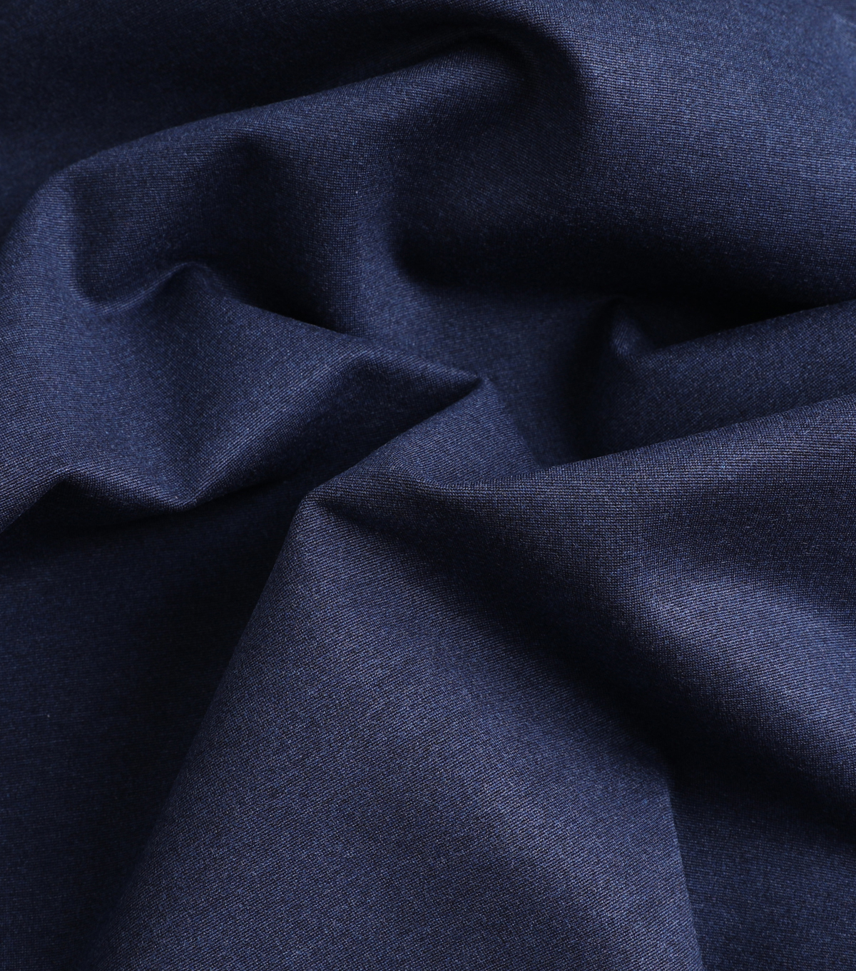 Stretch Refined Ponte Knit Fabric-Heather Navy