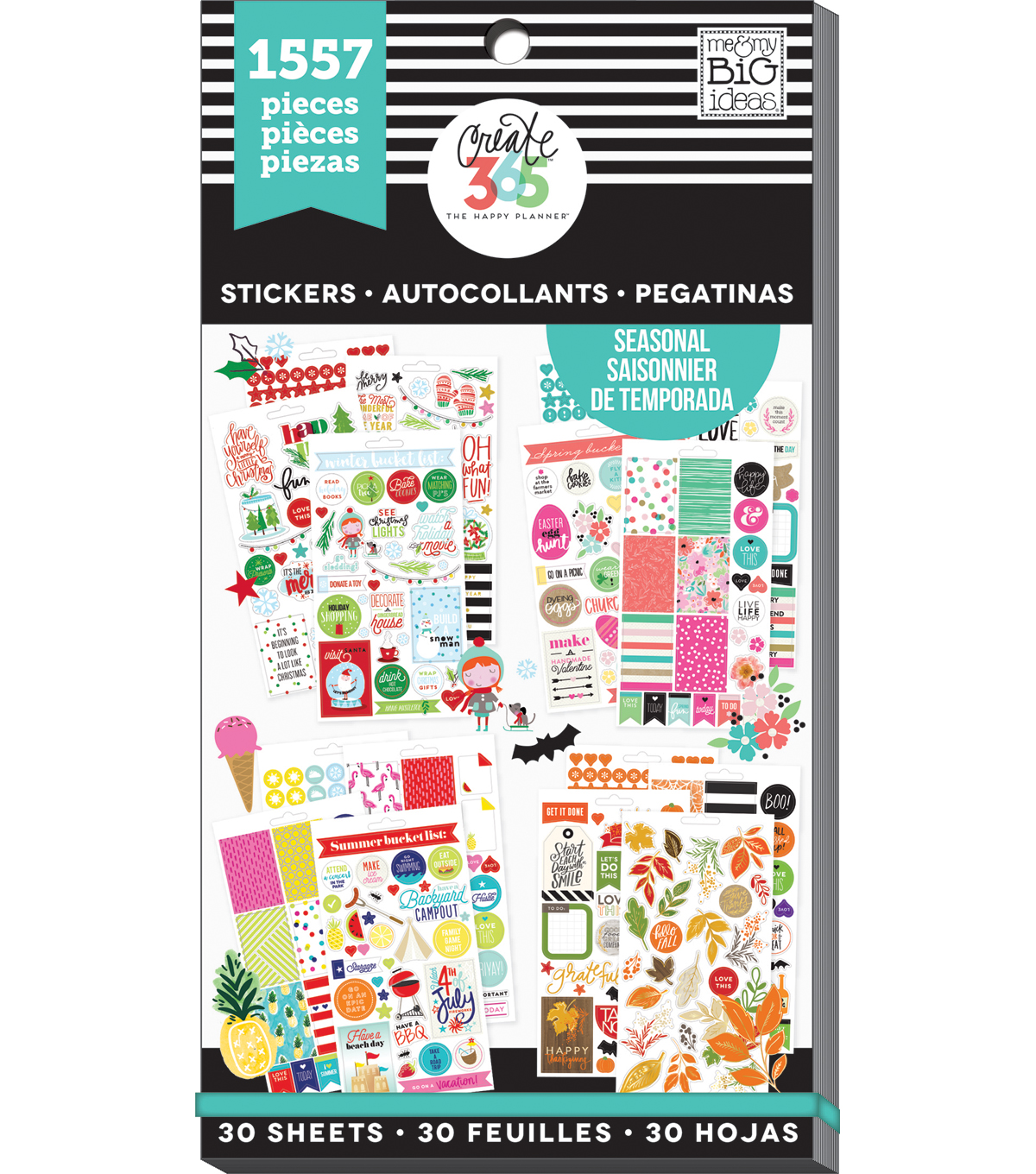 The Happy Planner Sticker Sheets-Seasonal