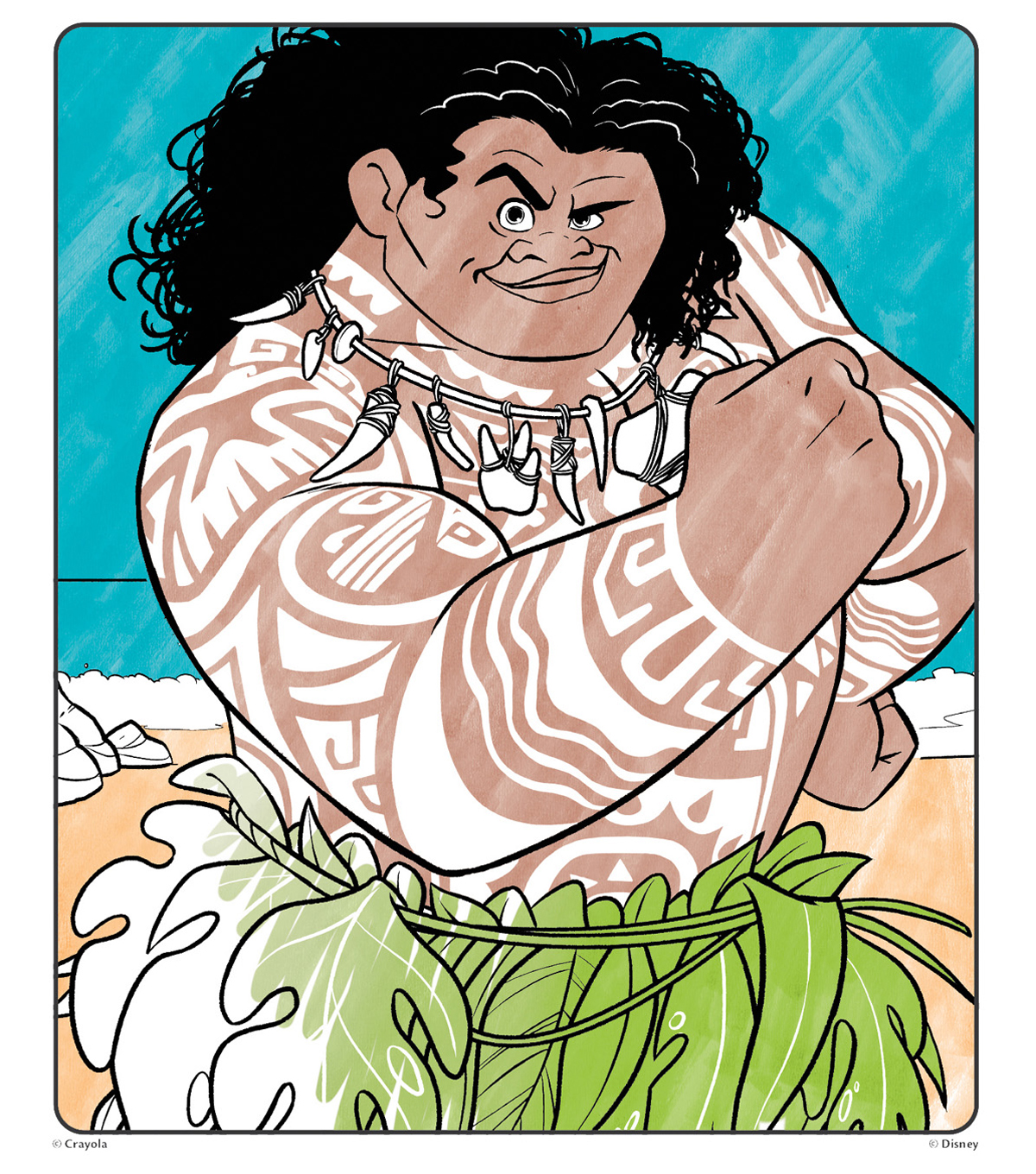 Crayola Colour Wonder Mess Free Coloring 18 Pages with 5 Mess Free Markers The Magic of Color Without the Mess Disneys Moana Coloring Book