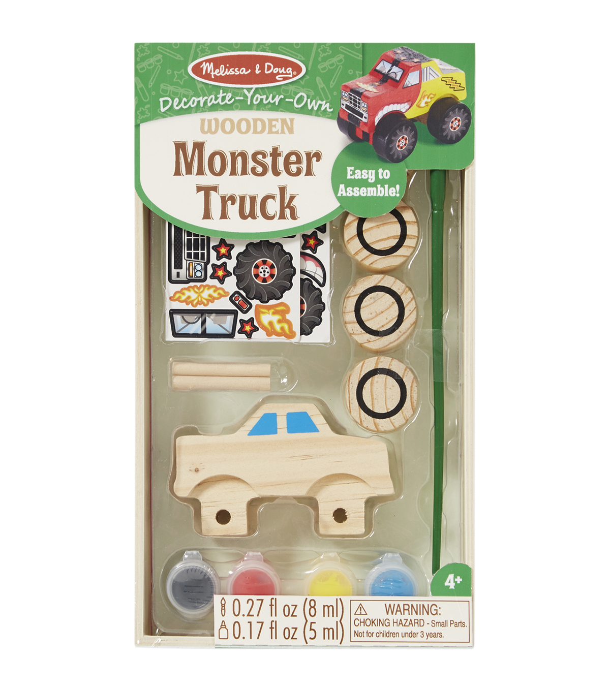 Melissa & Doug Decorate-Your-Own Wooden Kit-Monster Truck