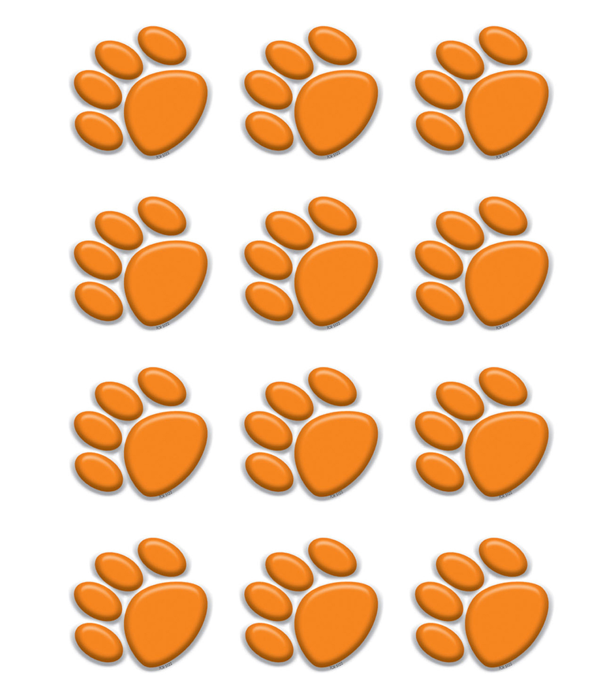 Orange Paw Prints Mini Accents 36/pk, Set of 12 Packs