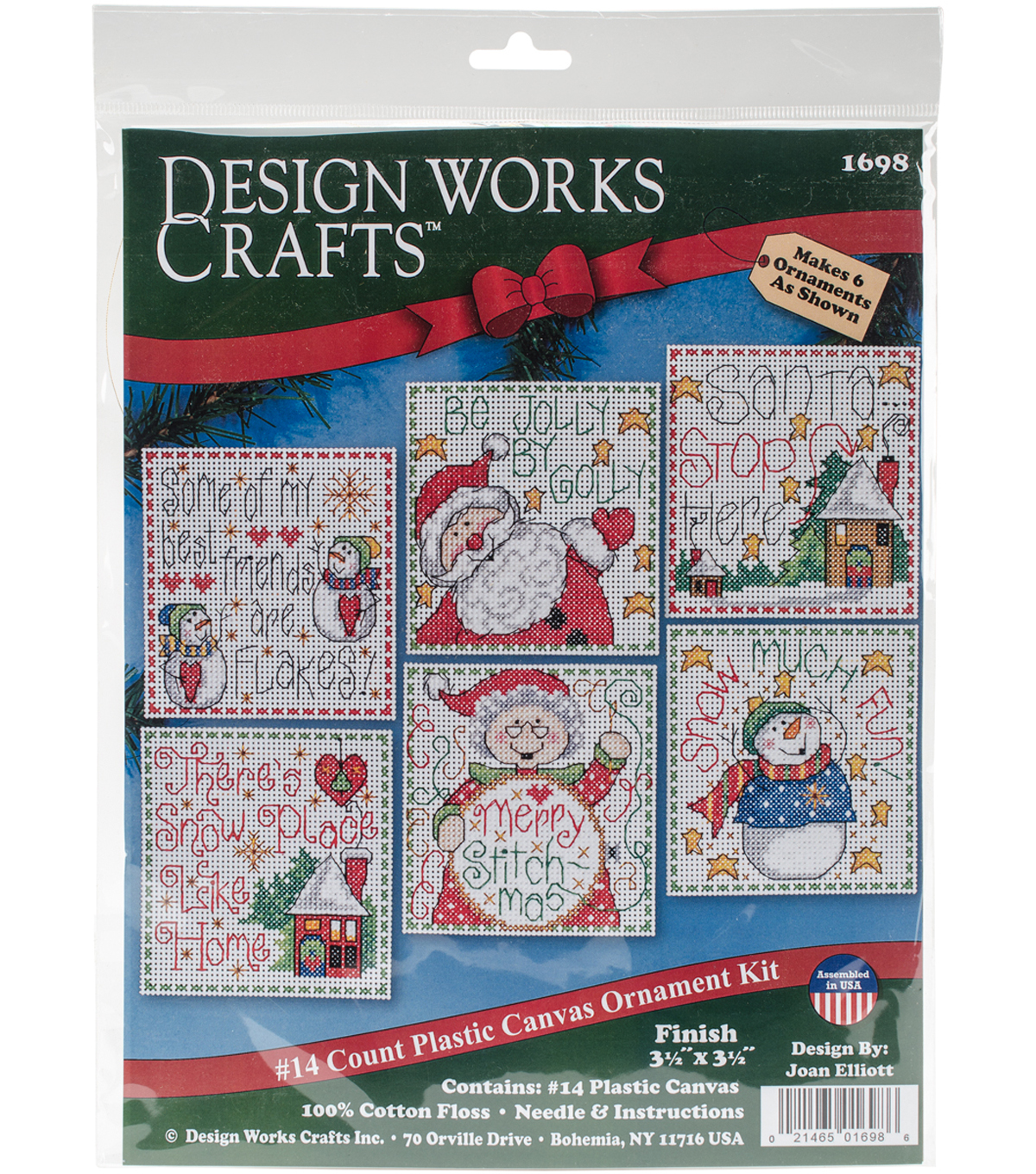 """14 Count Design Works Counted Cross Stitch Kit 17/"""" Long-Making New Friends"""