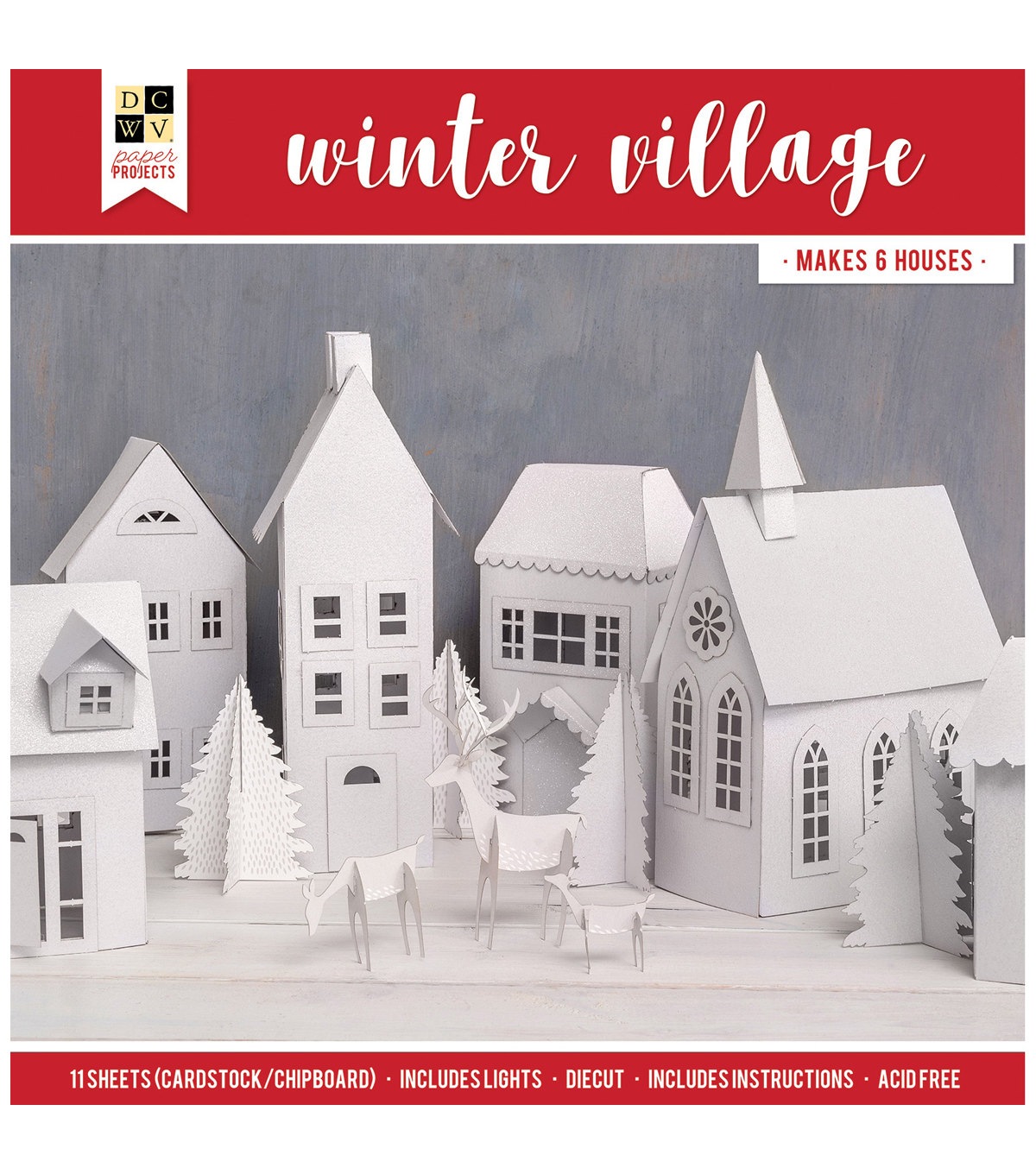 Die Cuts with a View Christmas Paper Projects-Winter Village