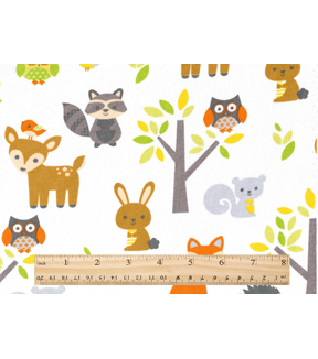 Nursery Cotton Fabric Woodland Animals