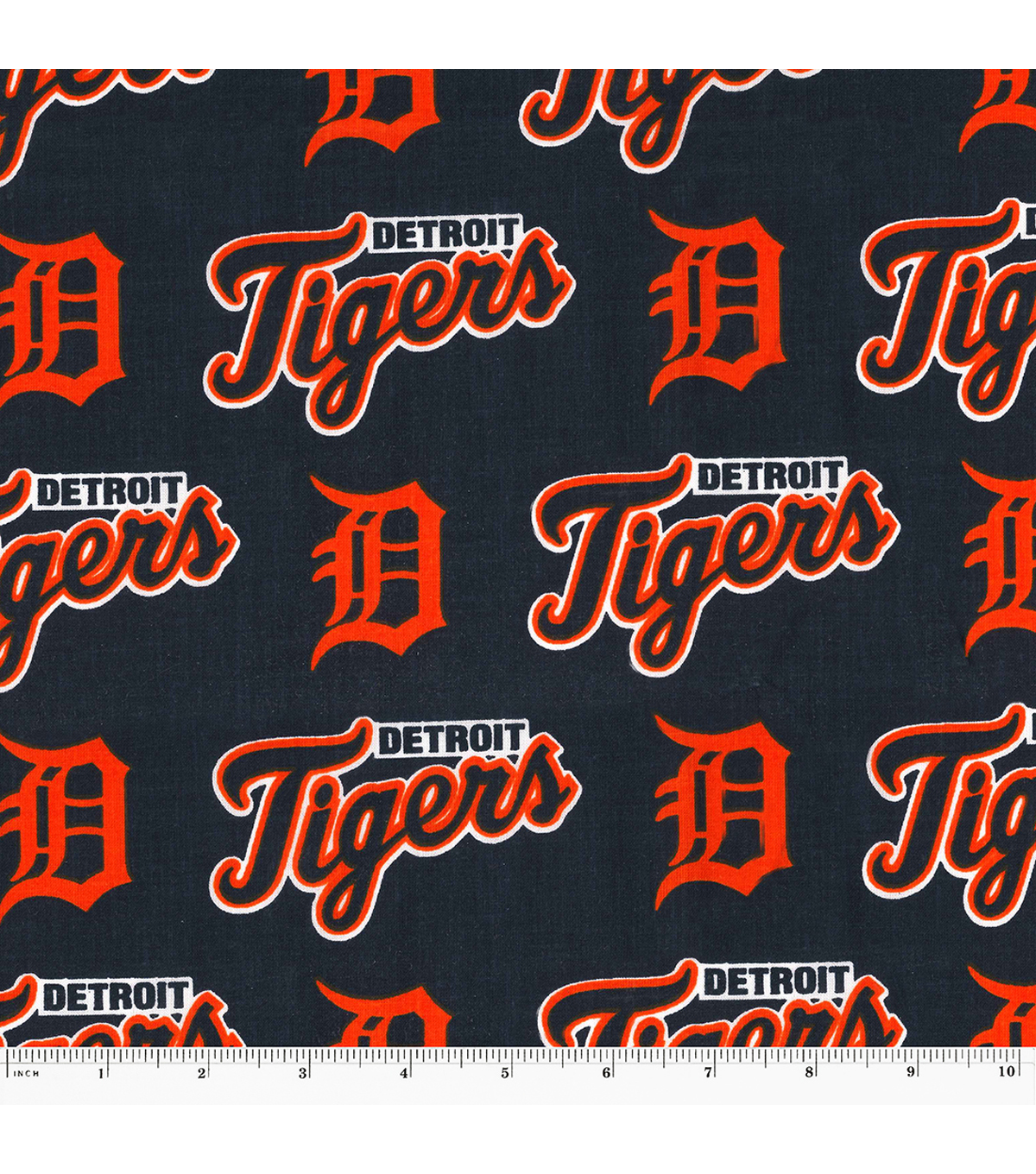 Detroit Tigers Cotton Fabric 58\'\'-All Over