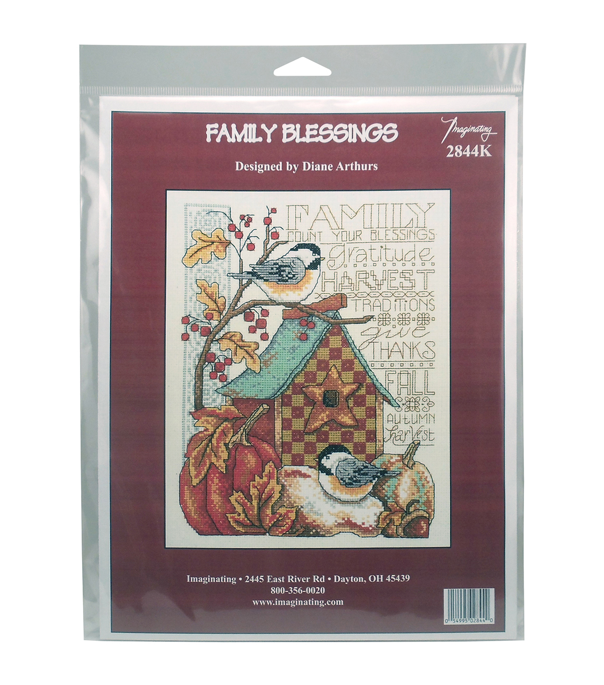 Imaginating Counted Cross Stitch Kit-Family Blessing