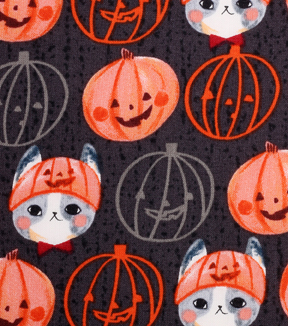 6d91a5a91fb Halloween Cotton Fabric -Kitty Pumpkin Hat