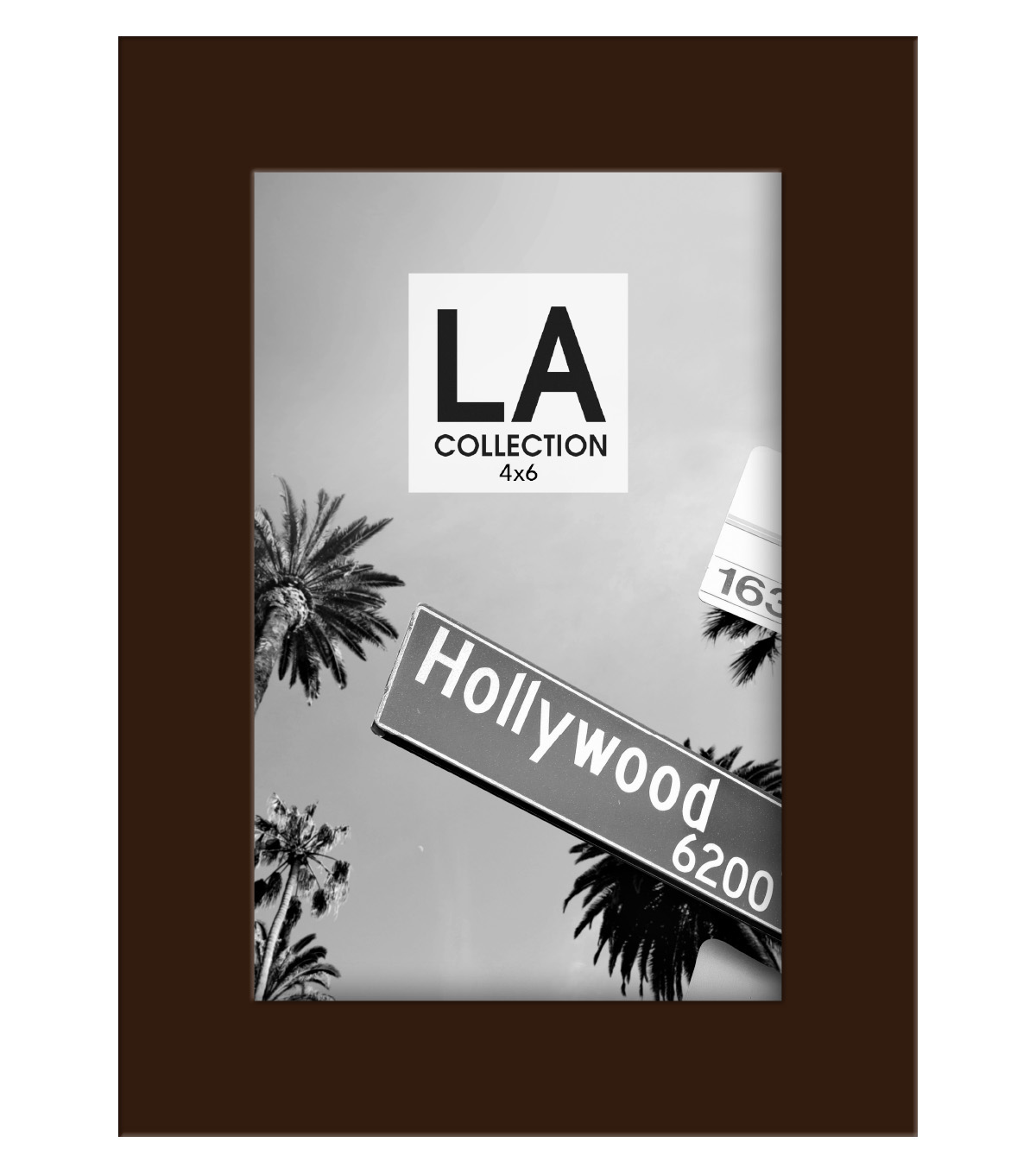 LA Collection Wood Frame 4x6-Espresso
