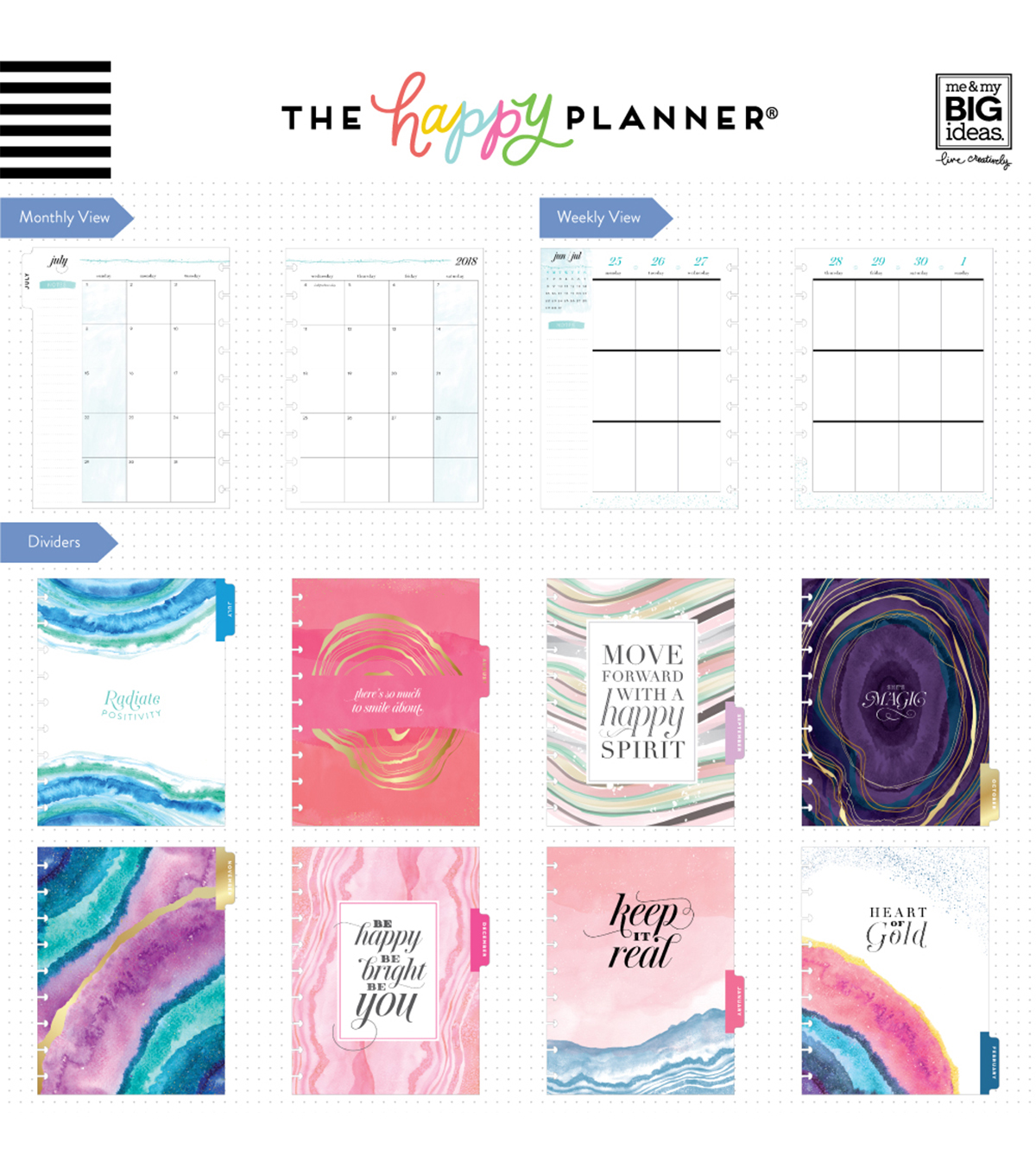 The Happy Planner Classic Dated Planner-Agate