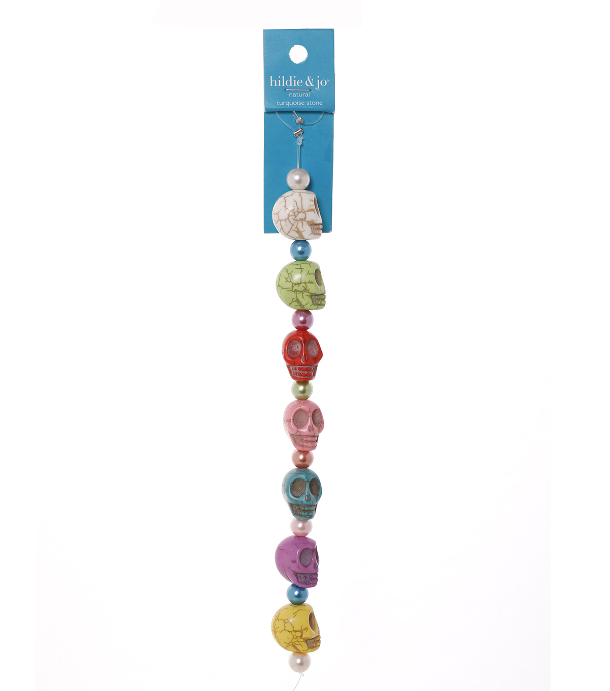 Advantus/Sulyn 7 in Fiesta Skulls Bead Strand, Pearly Pastel