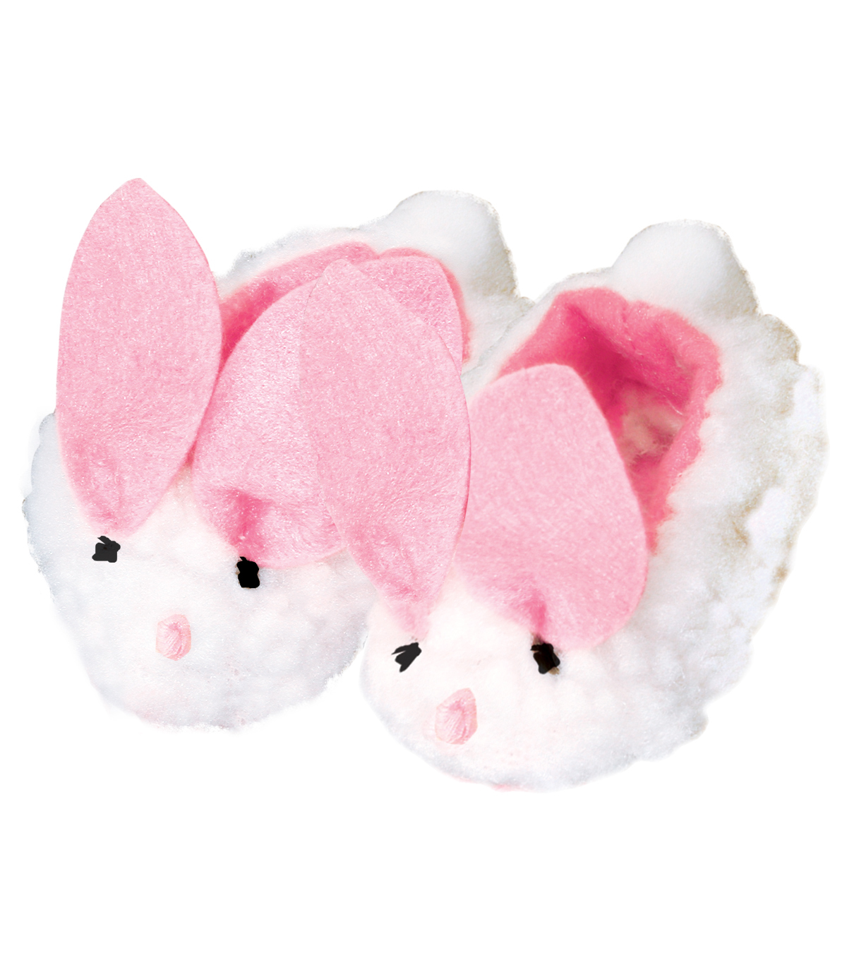Springfield Boutique Bunny Slippers-White & Pink