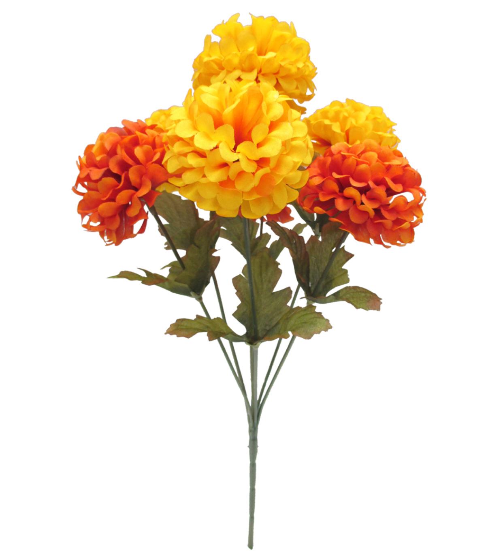 Blooming Autumn 14 Ball Mum Bush Orange Yellow Joann