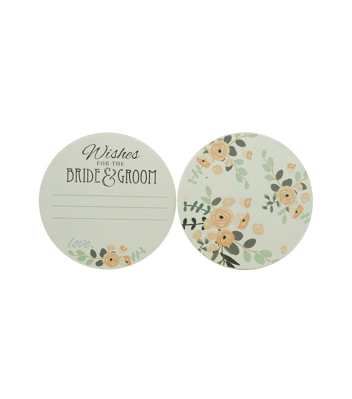 Paper Floral Coasters-Set of 24
