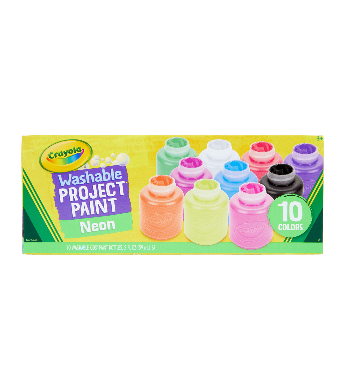 Crayola Washable Neon Paint 2oz 10/Pkg-