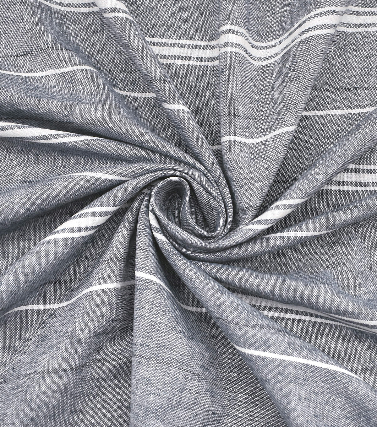 Linen & Linen Look Fabric -Stripes on Gray
