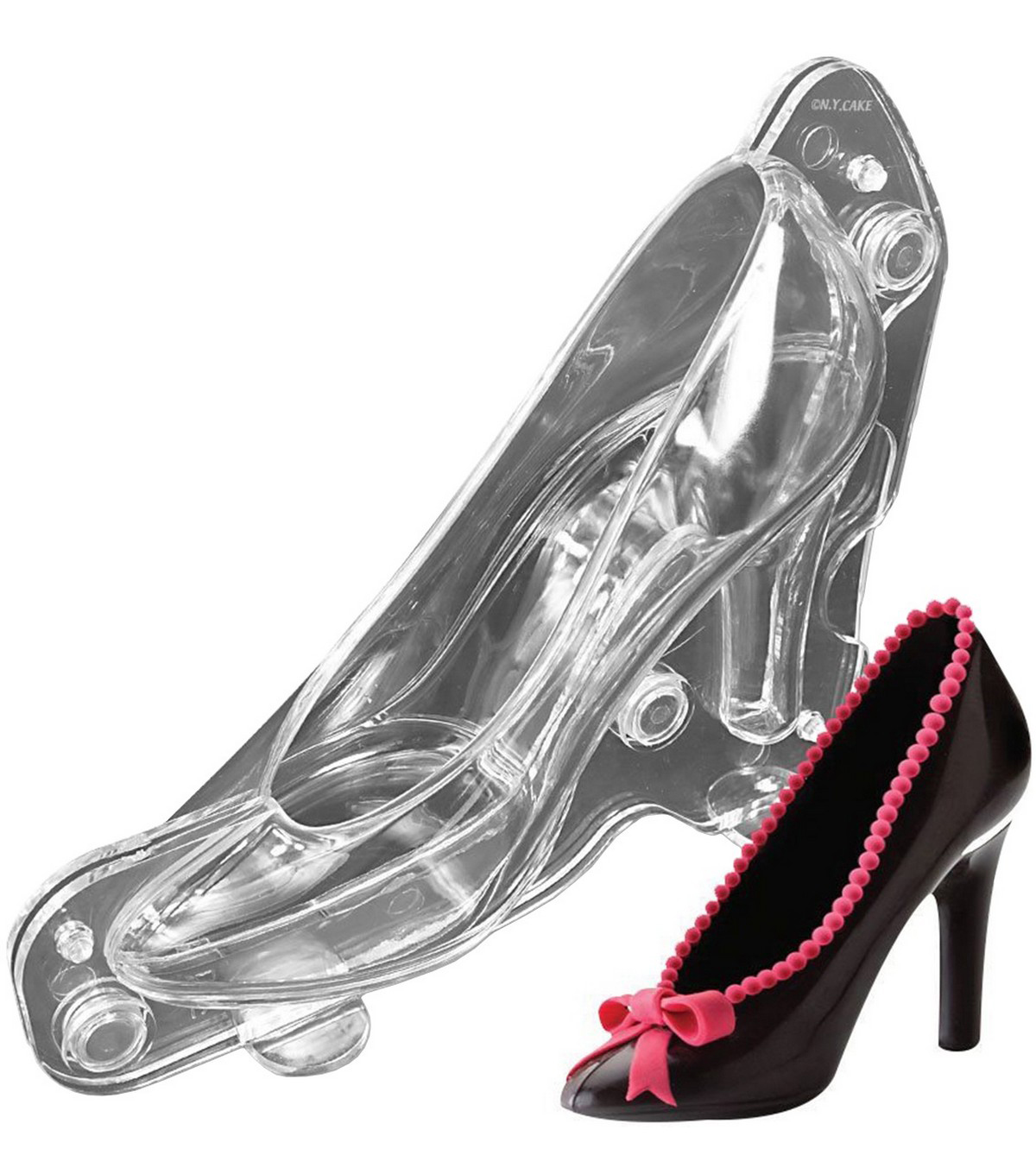 NY Cake 3D Polycarbonate Chocolate Mold-Stiletto High Heel Shoe