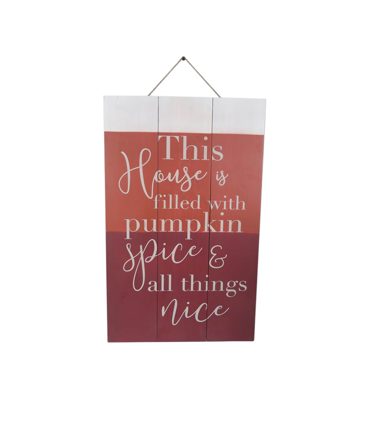 Simply Autumn Wall Decor-Pumpkin Spice on Color Block