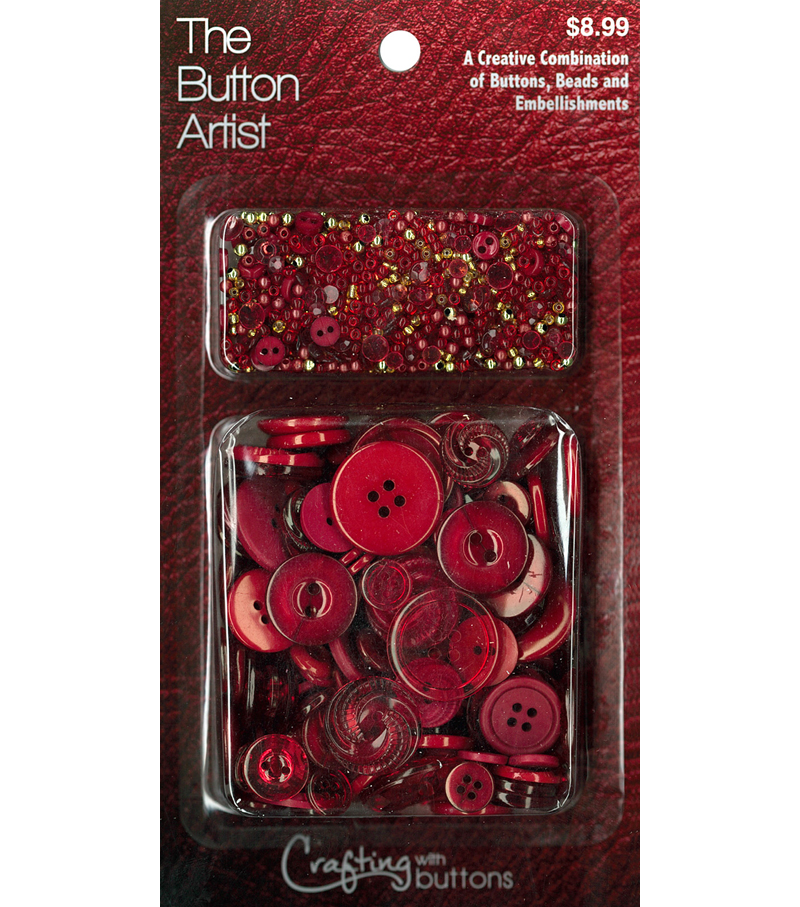 The Button Artist Buttons & Beads Wine