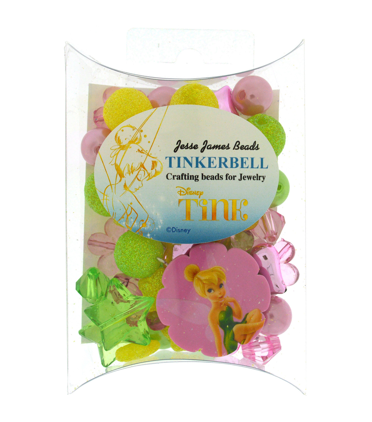 Jesse James Disney Craft Beads For Jewelry-Tinkerbell