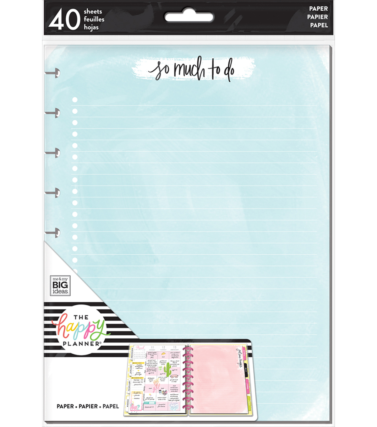 The Happy Planner Classic Note Papers-Watercolor