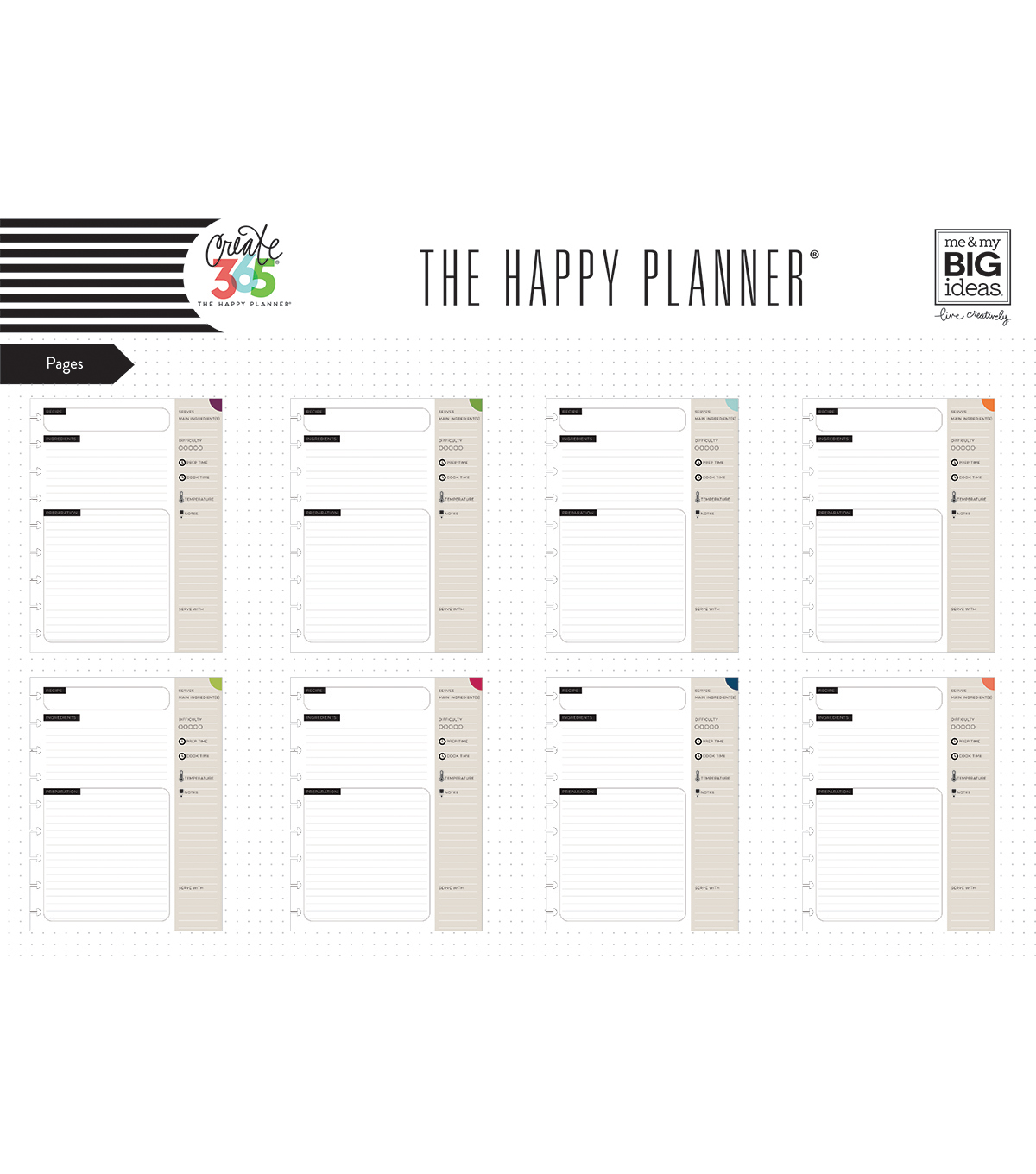 The Happy Planner Recipe Organizer