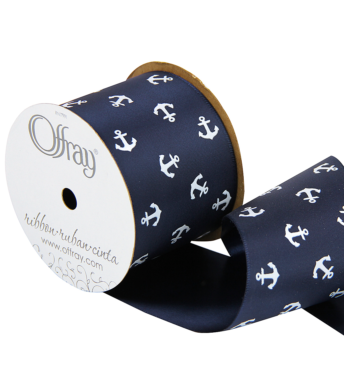 2 And One Qtr Sailor Retreat Anchors Ribbon