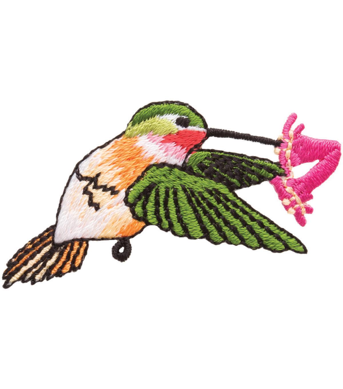 Simplicity Iron-On Applique-Hummingbird W/Flower | JOANN