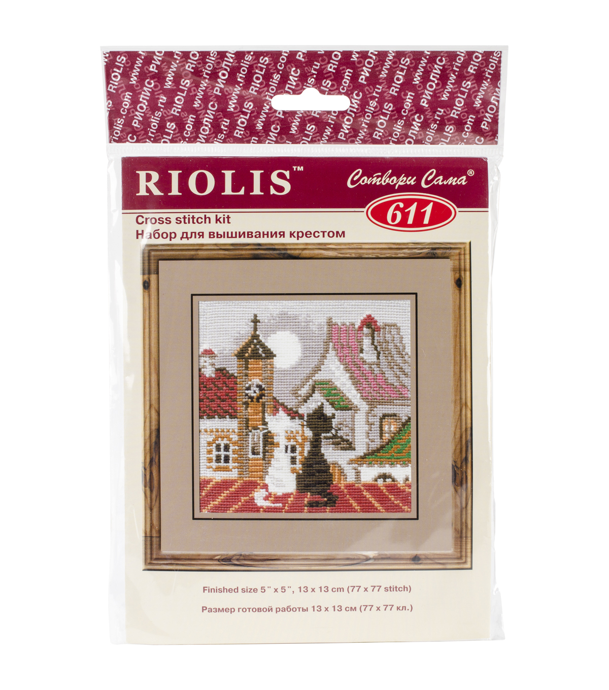 City&Cats Spring Counted Cross Stitch Kit-5\u0022X5\u0022 15 Count