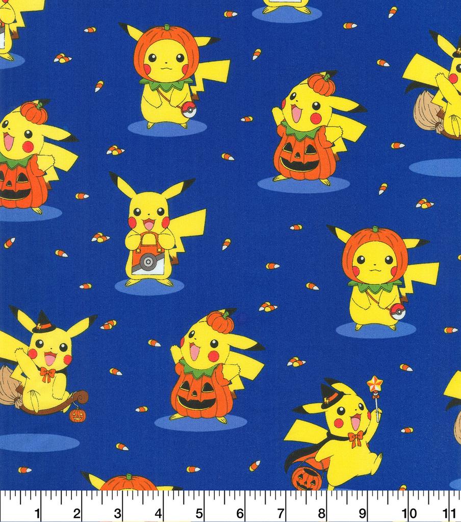 pokemon halloween cotton fabric 44 pikachu joann