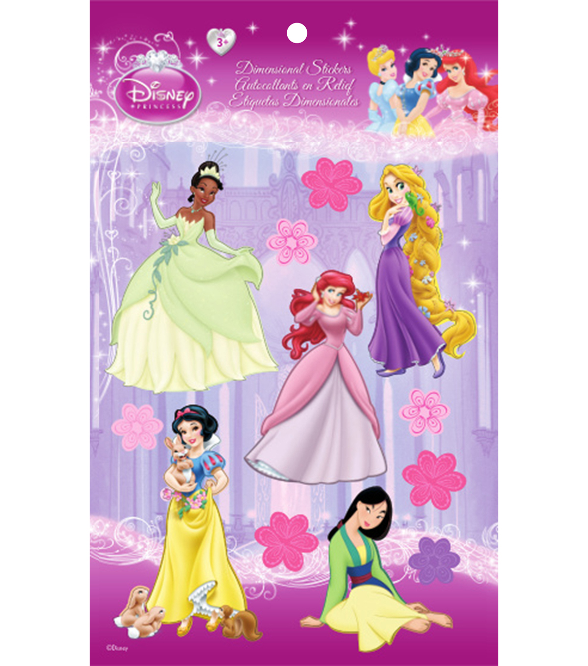 Disney Princess Dimensional Stickers-Group 1