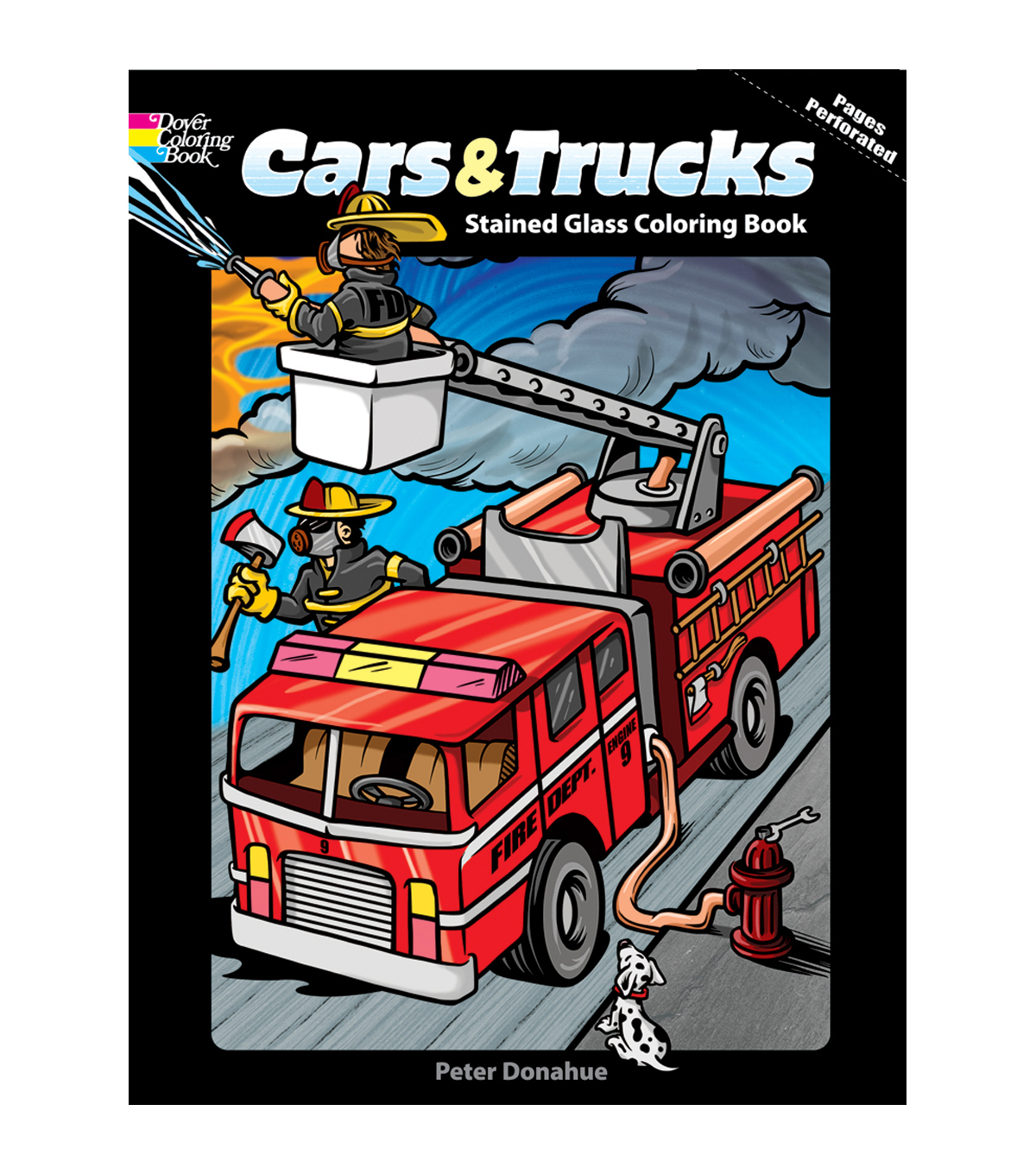Dover Publications-Cars/Trucks Stained Glass Coloring Book | JOANN
