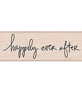 Hero Arts Wood Mounted Rubber Stamp-Happily Ever After