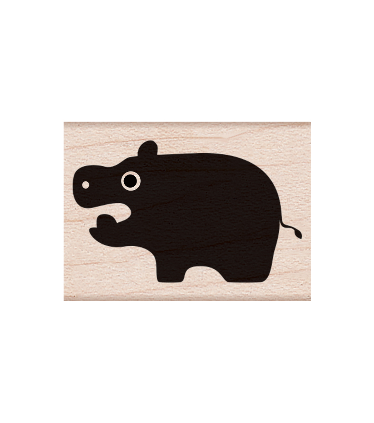 Hero Arts Wood Mounted Rubber Stamp-Little Hippo
