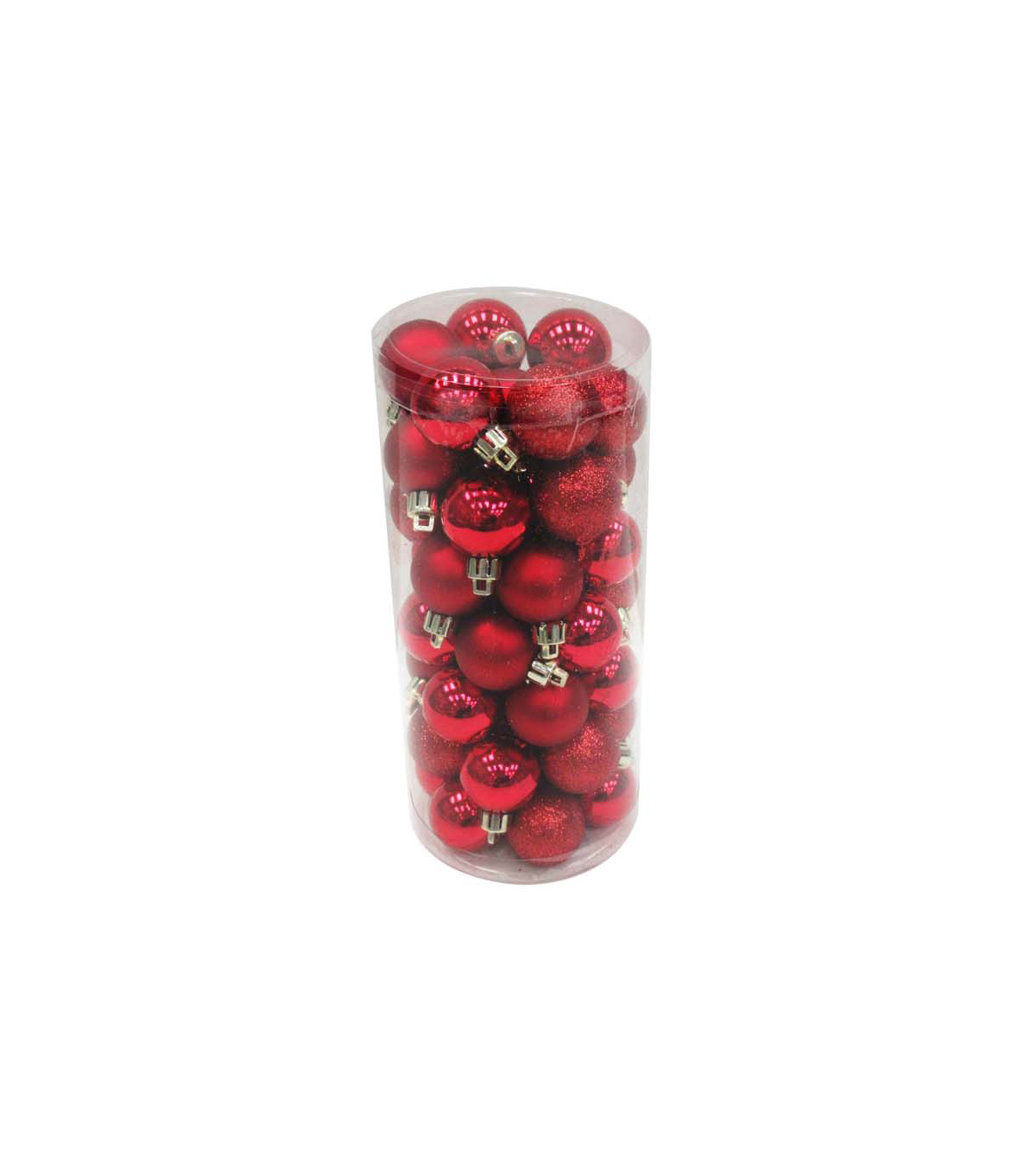 Handmade Holiday Christmas 48 pk 30 mm Boxed Ornaments-Red