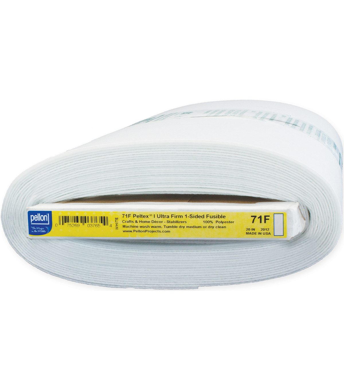 Pellon 71F Peltex I One-Sided Fusible, White 20\u0022 x 10yds bolt