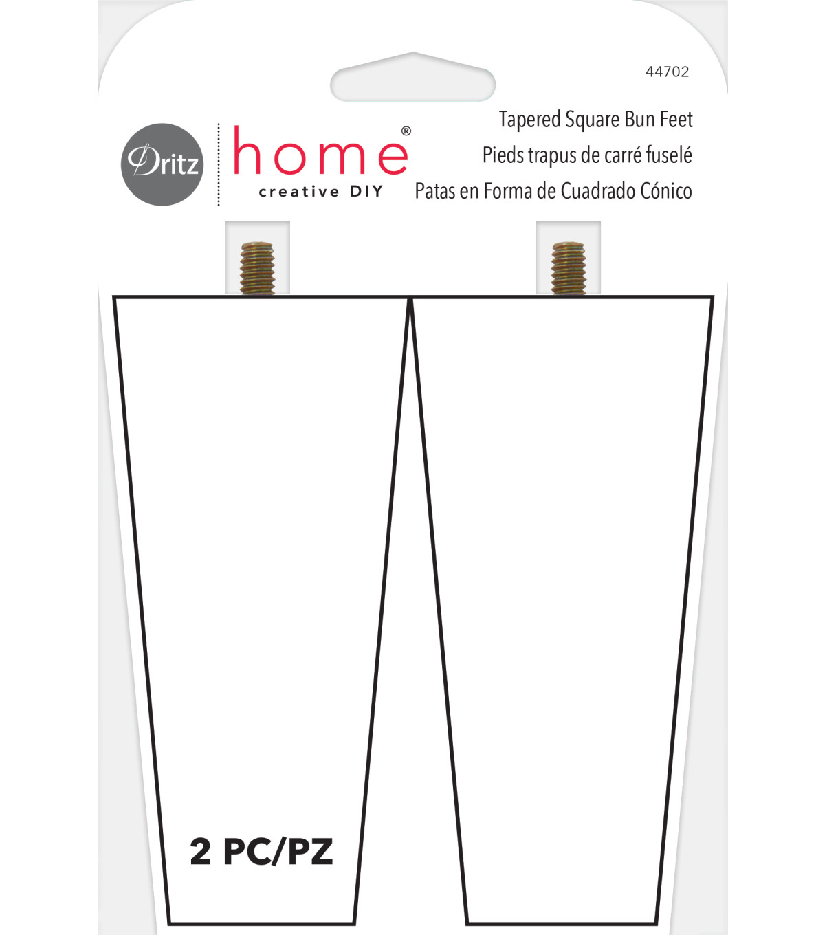 Dritz Home Tapered Square Bun Feet