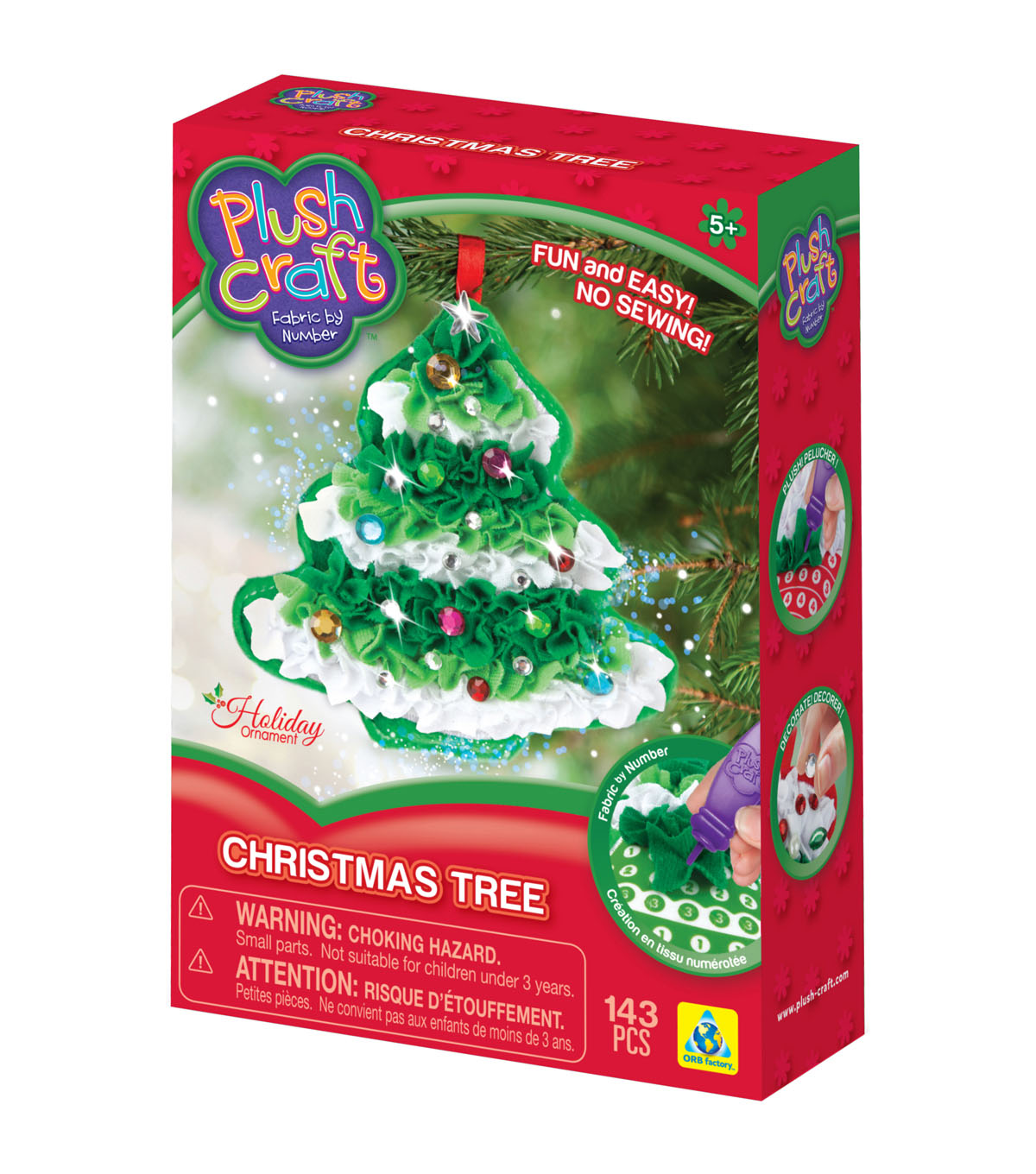 Orb Plush Craft Christmas Tree Ornament Kit