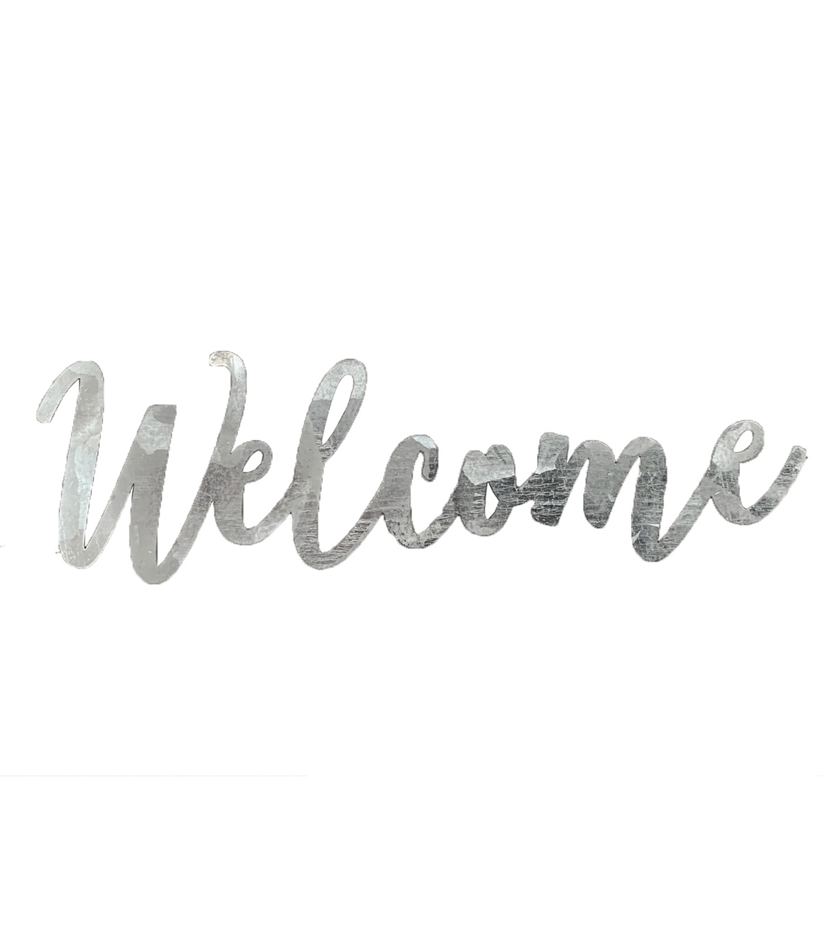 Fab Lab 5\u0022 Galvanized Welcome Sign