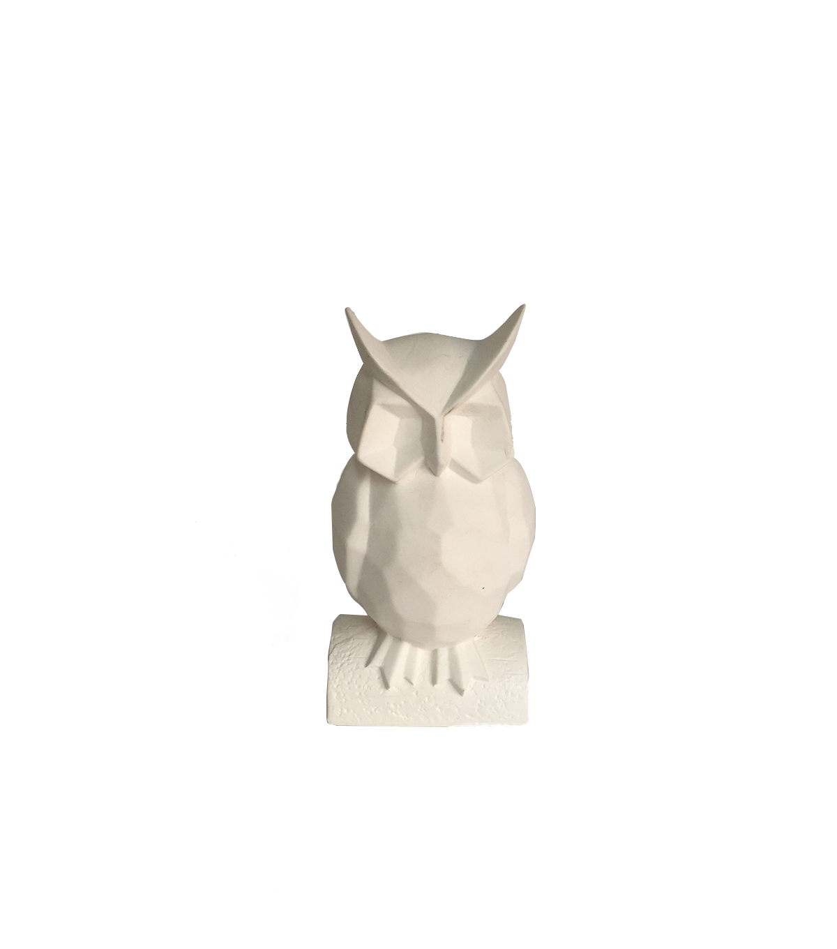 Simply Autumn Geometric Owl Decor-White