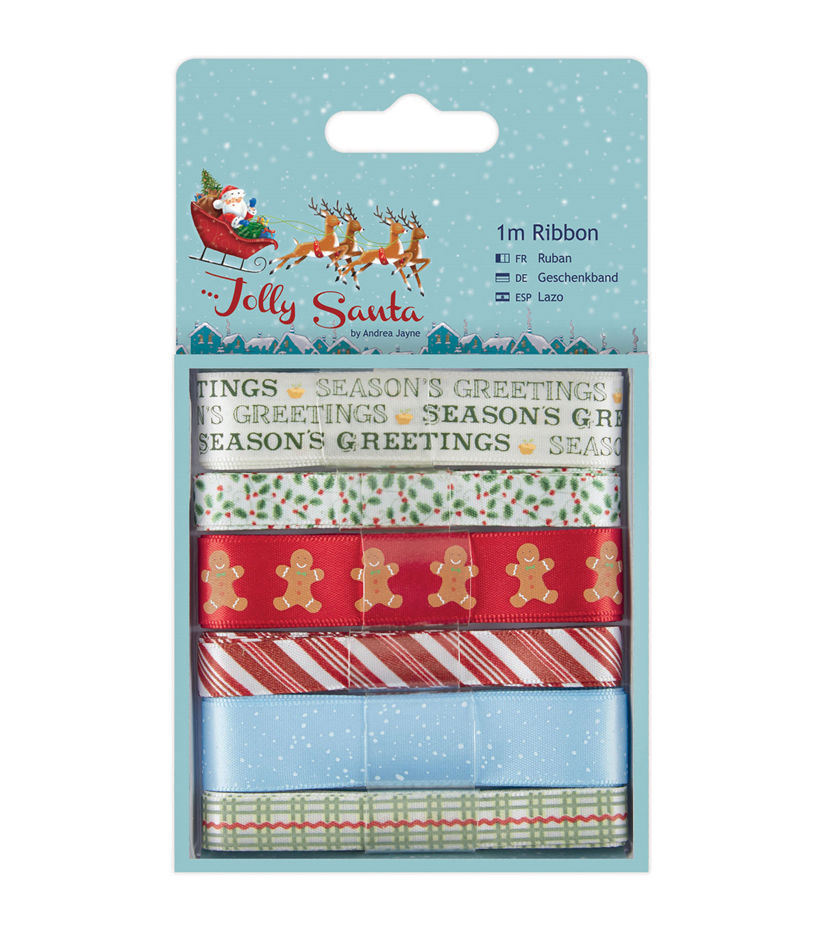 Papermania Jolly Santa 6ct Ribbon