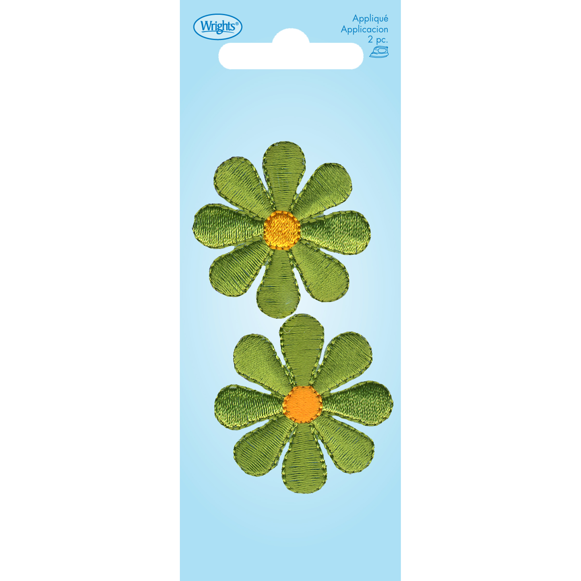 Wrights Iron-On Applique-Flower Lime
