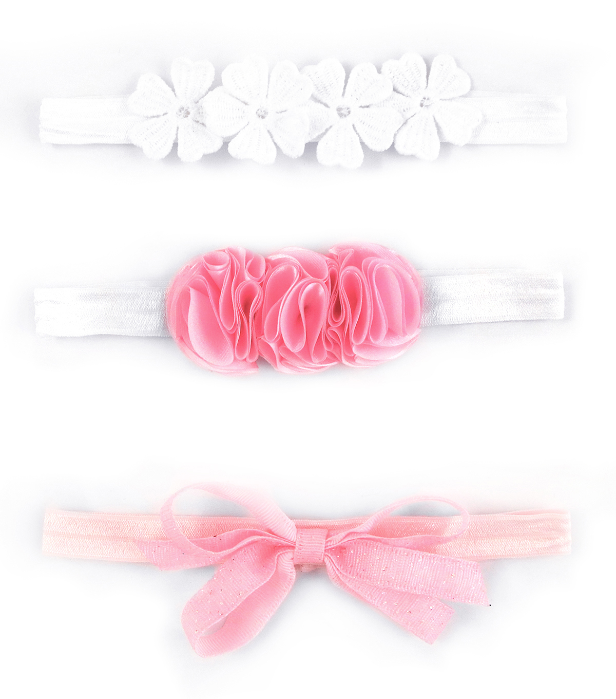 3 Pc Headband- Cream Pink