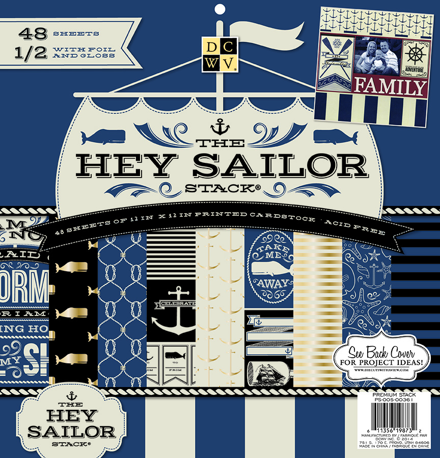 DCWV 12\u0022x12\u0022 Hey Sailor Stack